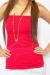 Tess bamboo top maternity wear funky muma red