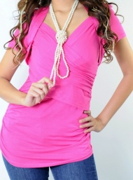 Shrug long tank maternity wear funky muma pink