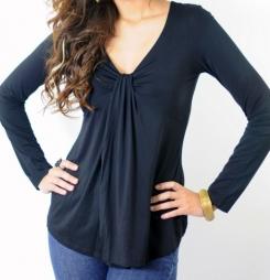 Flyn black top breastfeeding funky muma breastfeeding pregnancy maternity wear