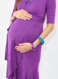 Evita wrap dress breastfeeding and maternity funky muma plum