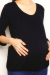 Jenna black bamboo top pregnant funky muma breastfeeding pregnancy maternity wear