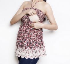 Sarah smocked tunic breastfeed funky muma breastfeeding pregnancy maternity wear