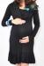 Leticia black cowl pregnant dress funky muma breastfeeding pregnancy maternity wear