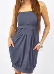 Tabitha maternity dress funky muma pewter