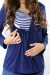 Hoodie maternity wear funky muma navy blue breastfeeding