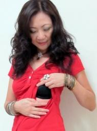 Casey red breastfeed funky muma breastfeeding pregnancy maternity wear