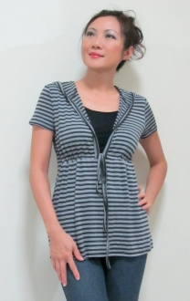 Carly hoodie black and white bamboo nursing funky muma breastfeeding pregnancy maternity wear