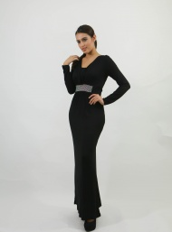 Rhinestone maxi black nursing funky muma breastfeeding pregnancy maternity wear
