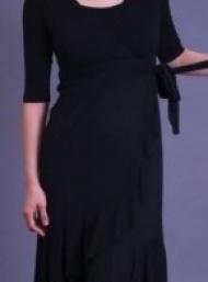 Evita black nursing dress funky muma breastfeeding pregnancy maternity wear
