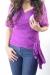 Geisha wrap maternity wear funky muma purple