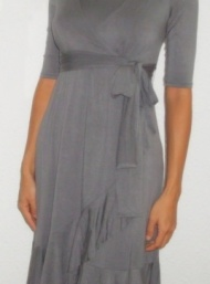 Evita wrap dress breastfeeding and maternity funky muma pewter