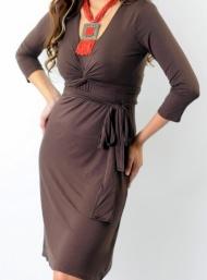 Giselle tie wrap maternity wear funky muma espresso