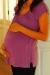 Shirred tunic orchid maternity wear funky muma pregnant