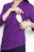 Pleated bib plum longsleeve top shirt breastfeed bamboo funky muma breastfeeding pregnancy maternity wear