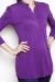 Pleated bib plum longsleeve top shirt nursing bamboo funky muma breastfeeding pregnancy maternity wear