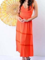 Marissa maxi dress orange nursing funky muma breastfeeding pregnancy maternity wear