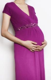 Bianca maxi 2 evening dress magenta pregnant bamboo funky muma breastfeeding pregnancy maternity wear