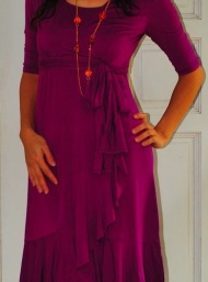 Evita wrap dress breastfeeding and maternity funky muma violett