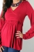 Bella bamboo top maternity funky muma red