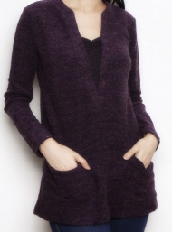 Two tone sweater nursing aubergine funky muma breastfeeding pregnancy maternity wear