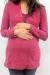 Two tone sweater fuchsia pregnant funky muma breastfeeding pregnancy maternity wear