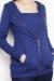 Zoe zipped hoodie blue nursing funky muma breastfeeding pregnancy maternity wear