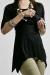 Shimmer black breastfeed funky muma breastfeeding pregnancy maternity wear