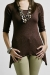 Shimmer brown nursing funky muma breastfeeding pregnancy maternity wear