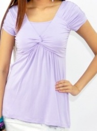 Baby doll knot top lilac nursing bamboo funky muma breastfeeding pregnancy maternity wear