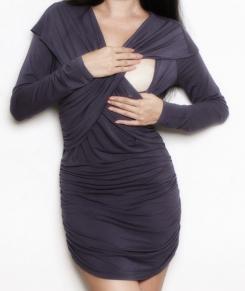 Shawl petwer mini dress bamboo breastfeed funky muma breastfeeding pregnancy maternity wear