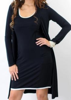 Orla black and white dress twin set bamboo funky muma breastfeeding pregnancy maternity wear
